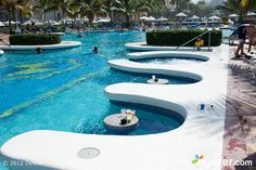 Swim-Up Bar at the Riu Palace Punta Cana Hotels And Resorts, Best Hotels, Carribean Honeymoon, Caribbean, Riu Palace Punta Cana, Swim Up Bar, Pool Bar, Pool Table, Travel Agency