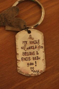 Personalized Keychain great gift for men customized by BELOdesigns, $30.00