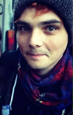 Gerard Way. Someone find this poor baby's hat - he lost it probably 2 years ago, by now.