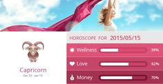 Capricorn Wellness, Love and Money predictions for 2015/05/15. Are they accurate? Pin=Yes | Favorite=No