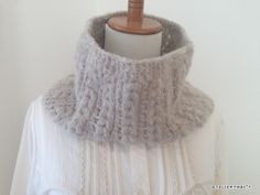 Hooded Cowl, Knit Crochet, Knitting, Winter, How To Make, Neck Warmer, Craft, Grey, Fashion