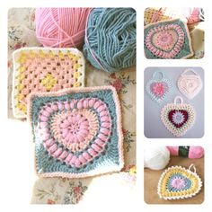 Yes! Done!  A little while ago I found lovely squares to make for Michelle's Challenge... and it was a big granny challenge to me! Firs...