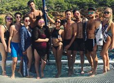 Unseen Jade with friends in Ibiza