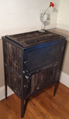 Reclaimed wood liquor cabinet, wine rack, industrial liquor cabinet, wine glass storage cabinet by RusticSantaFe on Etsy https://www.etsy.com/listing/274798392/reclaimed-wood-liquor-cabinet-wine-rack