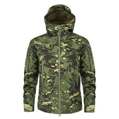 Sports & Entertainment Hiking Clothings Radient 2018 Autumn M65 Jungle Hooded Jacket Outdoor Hiking Hunting Windbreaker Army Tactical Windproof Waterproof Camo Coat High Standard In Quality And Hygiene