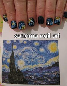 A masterpiece! Starry Night nails!