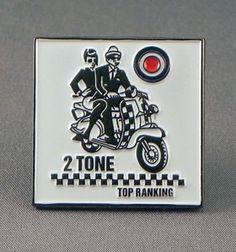 TWO TONE TOP RANKIN ENAMEL PIN BADGE. SKA SCOOTER MOD LAMBRETTA VESPA SKINHEAD 2 | eBay