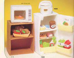Felt doll house furniture | Miniature Food Doll House Felt Plus h Japanese craft book. PDF Ebook ...