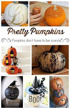 Pretty Pumpkins - Cute Ideas for a chic #Halloween!