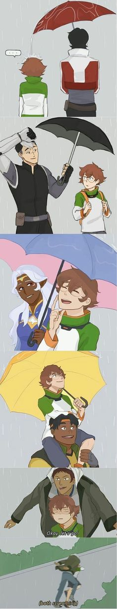 Nah, Keith would give her the whole umbrella and everybody knows it ^w^