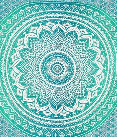 Ombre Flower Mandala Wall Tapestry