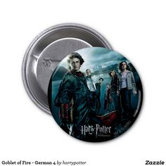 Goblet of Fire - German 4 2 Inch Round Button