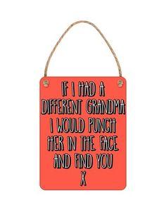 cd4ff2bc9c If I Had A Different Grandma Tiny Tin Sign