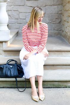 Red Stripes J.Crew S