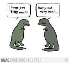 t-rex lovin jajaja amo los chistes de Rex