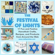 A Roundup of 17 Fabulous Hanukkah (Chanukah) Crafts, Recipes, and Products from Craft Quickies
