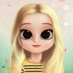 Chloe mlb Girl Cartoon Characters, Cute Cartoon Girl, Cute Characters, Cute Anime Character, Kawaii Girl Drawings, Cute Girl Drawing, Cartoon Drawings, Animated Movie Posters, Kawaii Disney