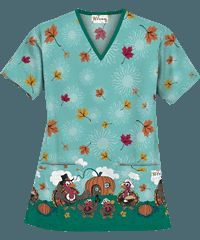 spooksville sues signature placement print halloween scrubs i need new scrubs pinterest halloween design and tops - Halloween Scrubs Uniforms