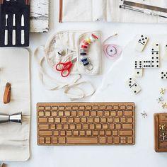 Wireless Bamboo Keyboard