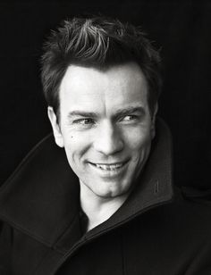 Ewan McGregor, love his quirky crooked smiled!!! ah!!! and your cleft chin works so well for you :) i loved you in both star wars and moulin rouge!!!!! <3 <3