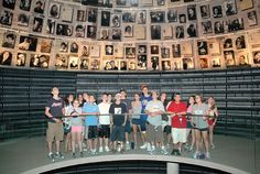 Visitors in the Hall of Names - Yad Vashem, world center for Holocaust research, documentation, education and commemoration and dynamic place of intergenerational and international encounter.