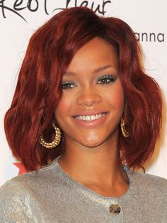 Hot Hair Color: 7 celebs with shades of #red #Rihanna