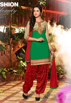 This is the latest dress collection For Divali by Utsav Fashion For Girls 2015 You will love to wear these dresses on your special occasion. Ladies Salwar Kameez, Patiala Salwar Suits, Cotton Salwar Kameez, Salwar Suits Online, Punjabi Suits, Cotton Suit, Cotton Fabric, Made Clothing, Latest Dress