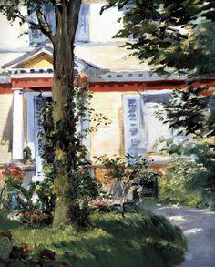 Edouard Manet - House at Rueil. Mary Cassatt, Pierre Auguste Renoir, Camille Pissarro, Edgar Degas, Paul Cézanne, Georges Seurat, Claude Monet, House Painting, Painting & Drawing