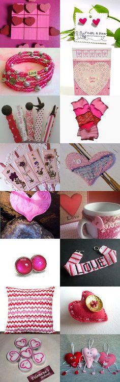 Valentine Pinks by Karina Scott on Etsy--Pinned with TreasuryPin.com