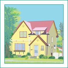 House Portrait, Giclee print from digital drawing. Small scale. £160.00
