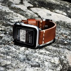 Beautiful Applewatch Watchface Concept : Casio databank from thetechblock.com / Primria coffee brown leather straps from primria.com  #primria #casio #watchface #watchstrap #applewatches #applewatchstrap #applewatch #applewatchband #applewatchface #leatherstrap