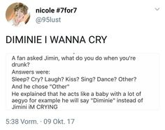 Someone must have called him Diminie, to call himself that  From now on, I'll call you Diminie~