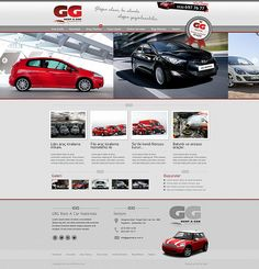 GG Rent A Car web design