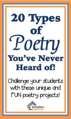 20 Fun Poem Types Yo