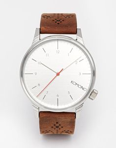 Komono Winston Leather Strap Watch