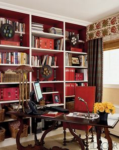 ARTICLE: Ways To Add Color To An Open Plan House | Bookcases And Cabinets Edition | Image Source: Elle Decor and Facile Flair | CLICK TO REA...