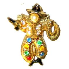 Antique Articulated Cowboy Figural Brooch Pin