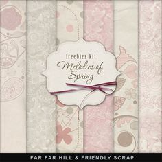 Far Far Hill - Free database of digital illustrations and papers: Freebies Background Kit - Melodies of Spring