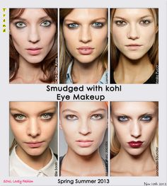 soul lovely fashion : Smudged with black kohl eye #Makeup