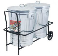 Walmart Trash Cans Outdoor Gorgeous Diy Trash Can Cart  Garden  Pinterest  Shop Ideas And House