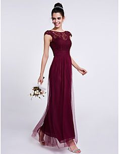 Lanting Bride Ankle-length Lace / Tulle Bridesmaid Dress She... – USD $ 85.49