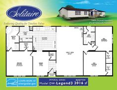 Triple wide mobile home floor plans double wide home Double wide floor plans with basement
