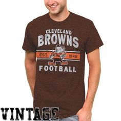NFL Cleveland Browns Vintage Team Arch T-Shirt - Brown by Junk Food. $19.95. Cleveland Browns Vintage Team Arch T-Shirt - Brown50% Cotton/50% PolyesterDistressed screen print graphicsTagless collarOfficially licensed NFL productImported50% Cotton/50% PolyesterDistressed screen print graphicsTagless collarImportedOfficially licensed NFL product