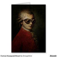 Custom Steampunk Mozart Greeting Card