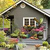Ways to add Curb Appeal: Create an instant garden.  Container gardens add a welcoming feel and colorful appeal to any home exterior -- quickly and affordable. You can buy ready-made containers from garden centers or create your own with your favorite plants. For most landscapes, a staggered, asymmetrical arrangement works best to create a dynamic setting.