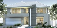 Don Russell Display Homes: The Lincoln Contemporary Facade. Visit www.localbuilders.com.au/display_homes_perth.htm for all display homes in Perth