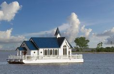 World's only floating church  non-denominational services while in the intra-coastal waters of Sarasota, Florida.