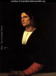 Young Man with Cap and Gloves - Tiziano Vecellio (Titian)…