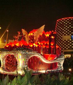 Giant decorated and illuminated float at Gading Nite Carnival 2013