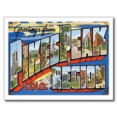Pikes Peak Colorado CO Post Card #Postcards #Colorado